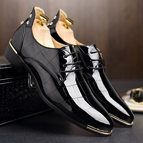 Mocassini da Primavera lucide Oxfords Driving Party stringate pelle in Evening Traspirante Shoes Estate formale Casual XUE Lavoro Scarpa Scarpe Comfort UN uomo d'affari amp; nxf0wp0tS