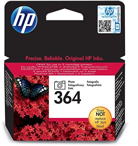 HP 364 Foto-schwarz Original Druckerpatrone für HP Deskjet, HP Officejet, HP Photosmart