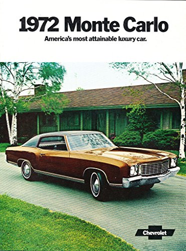 - 1972 Chevrolet Monte Carlo 12-page Original Car Sales Brochure Catalog