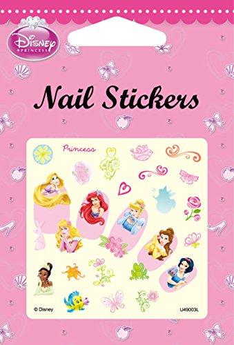 Disney Nail Art stickers Cartoon Decoration Mix 4-Pack (Princess)