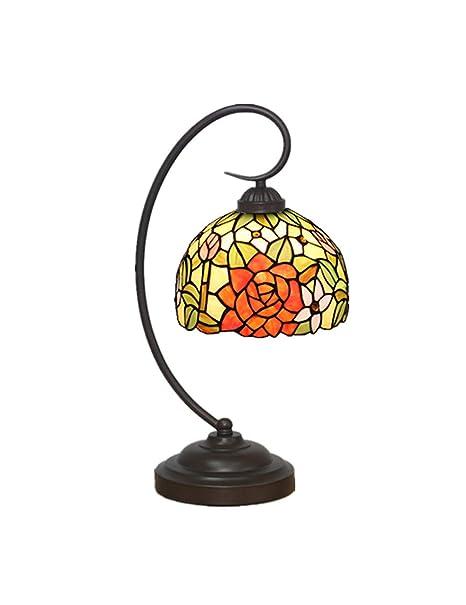 DLewiee Lámpara de Mesa de Cristal Naranja de 8 Pulgadas Pequeña ...