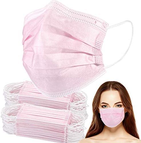 Disposable Face Masks, Disposable Mask of 100 pack Face Masks for Women Men