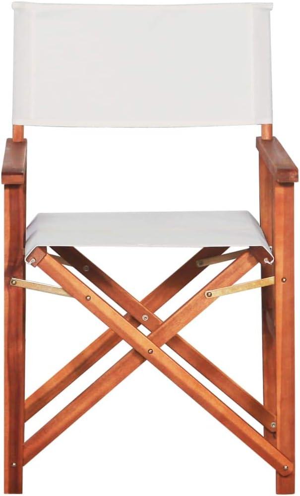 mewmewcat Sedie da Regista 2 pz in Legno Massello di Acacia 55 x 56 x 88 cm