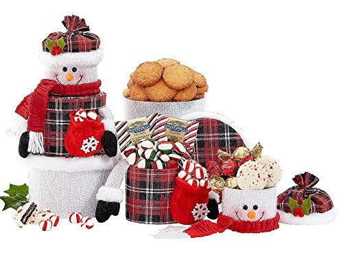 Snowman Tower Christmas Gift Baskets