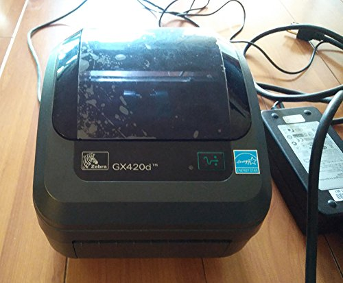 Zebra - GX420d Direct Thermal Desktop Printer for Labels, Receipts, Barcodes, Tags, and Wrist Bands - Print Width of 4 in - USB, Serial, and Parallel Port Connectivity (Includes Cutter) ()