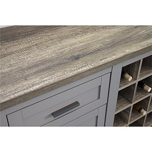 Amazon Ameriwood Home Carver Bar Cabinet Gray Kitchen & Dining