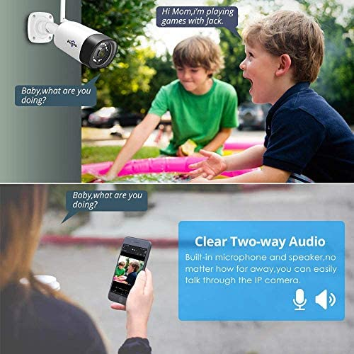 【Two Way Audio】Hiseeu Wireless Security Camera System,1TB Hard Drive,4Pcs 1080P Cameras 8Channel NVR,Mobile&PC Remote,Outdoor IP66 Waterproof,Night Vision,Motion Alert,Plug&Play,7/24/Motion Record 51RG81gwW2L
