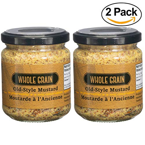 Viniteau Whole Grain Old Style Dijon Mustard - 200g (7.1oz) Pack of 2 Jars | Premium Quality, Imported From France