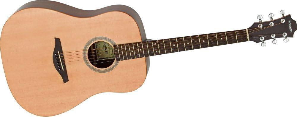 Hohner EP1-SD Dreadnought - Guitarra acústica con cuerdas ...