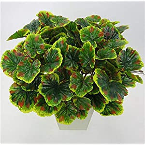 Vincent-Prestiges - 2pcs Artificial plants Begonia leaves Fake Foliage Flowers For Garden Wedding Decorative Table Home Decor 79