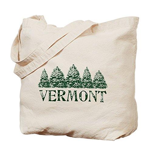 CafePress - VT Winter Evergreens - Natural Canvas Tote Bag, Cloth Shopping - Vt Bag Shopping