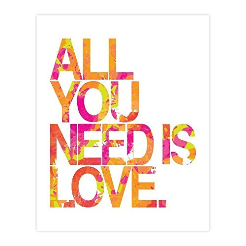 All You Need Is Love, Beatles Song Lyrics Pop Art Poster, - Review All Posters