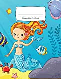 Composition Notebook: Mermaid Under the Sea Wide Ruled Notebook (School Office Supplies)