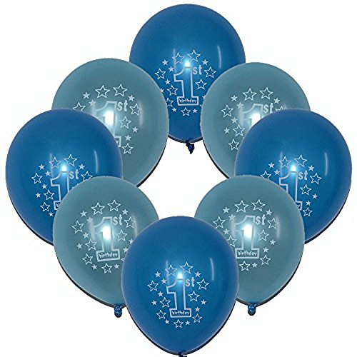 Baby Boy First Happy Birthday Party Latex Blue & Sky Blue Color 12