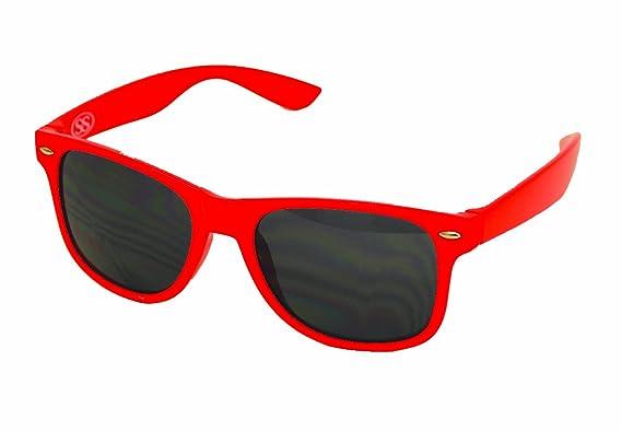 80's Classic Wayfarer Frame Red Retro Sunglasses Style vf6Yb7yg