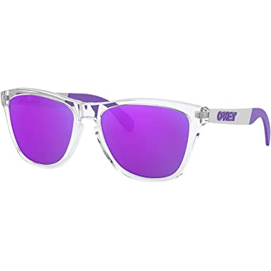 c116b6038ff6 Image Unavailable. Image not available for. Color: Oakley Men's Frogskins  Mix A Sunglasses,OS,Clear/Purple
