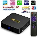 Hyperia MX10 4GB RAM 64GB ROM Android 9.0 OS TV Box USB3.0 RK3328 Quad Core 2.4Ghz WiFi LAN Smart 4K Media Player