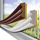 GEKO Adhesive Draught Excluder in Extruded Epdm Rubber for Doors and Windows Profile E-mm 9 x 4 x 6 Metre (2 x 3 M), Brown, Closed Box, One Size