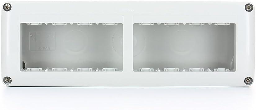Gewiss GW27006 IP40 caja eléctrica - Caja para cuadro eléctrico (231 mm, 55 mm, 82 mm): Amazon.es: Bricolaje y herramientas