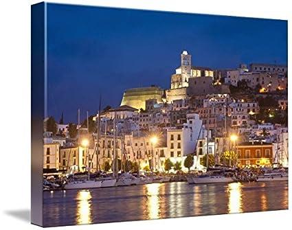 Amazon com: Wall Art Print entitled Ibiza Skyline At Night
