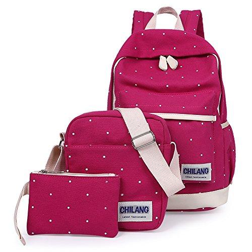 Viaje Casual Bolsa Lona De Mensajero Piezas Escolares Minetom Embrague Moda Mochilas Escolar Lunares Rosa Backpack Mochila Roja 3 Bqf4wp8