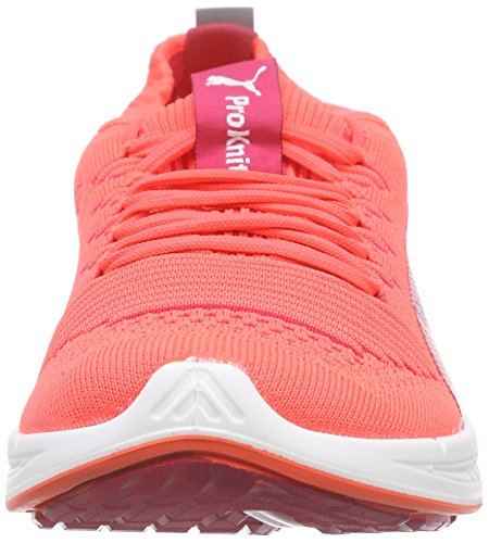 Puma Ignite Proknit Wns, Chaussures de Course Femme Orange - Orange (fluo peach-white-white 05)