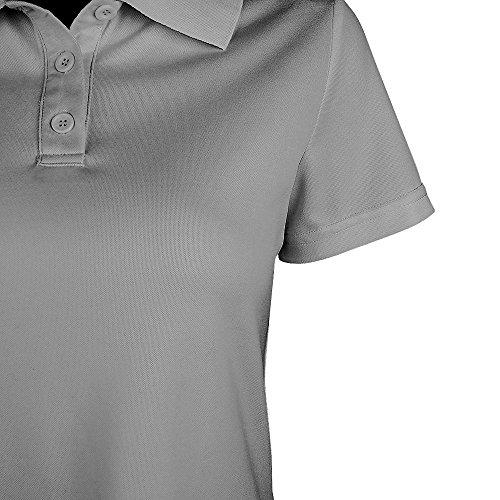 Bouton manches Polo shirt Col Blanc Femme Couleur courtes Top SUNNOW Polo shirt Gris Sport Elegance Cintre Uni piqu T vtTREqxSxw