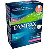 Tampax Pearl Plastic Super Absorbency Tampons, Fresh Scent 18 ea (Pack of 8)