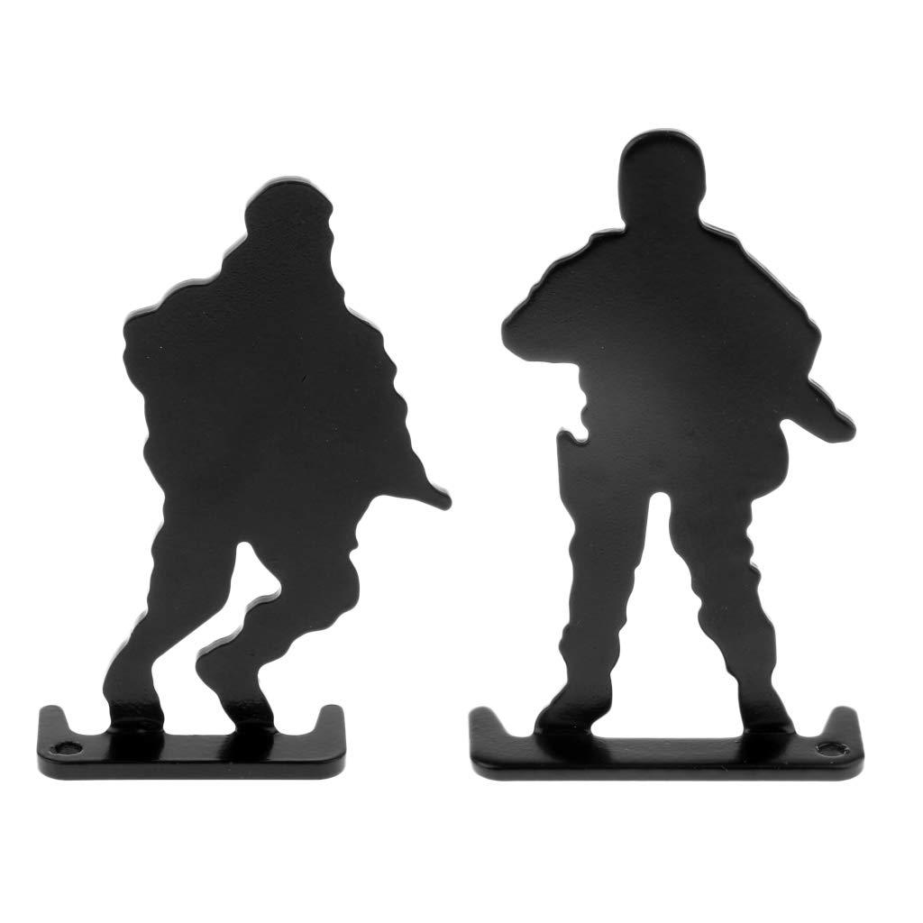 T TOOYFUL 4 Teile//Satz Metall Schie/ßscheiben Soldaten Silhouette Ziel Robust \u0026 Wiederverwendbar