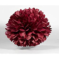 Sorive 5pcs Tissue Paper Pom-poms Flower Ball Wedding Party Outdoor Decoration Wedding / Baby Shower / Birthday Party / Nursery Decorations (8 Inch, Burgundy)