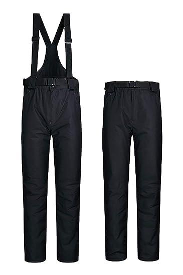 69f75226d5dc ELETOP Women s Snow Pants Outdoor Waterproof Windproof Ski Pants Warm  Insulated Snowboard Pants Black US XS