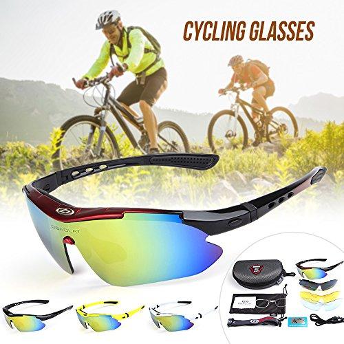 Gafas UV400 fluorescente amarillo de Ciclismo Gafas Gafas Lixada Deportivas Bicicleta Polarizado Sol Bicicleta w0TRAqE