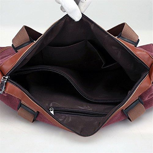 Shoulder Purses capacity Handbag Bag Canvas Handbags Mosaic Color Womens Tote Satchel Leisure Retro Solid Afcity Commuter Large wZOSXnUq