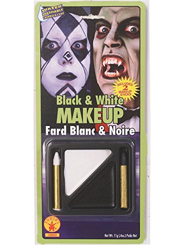 Rubie's Costume Co Black & White Makeup Kit ()