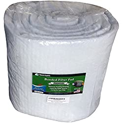 "Premium True Dual Density Filter Roll - 12 inch by 12 FEET Long by .75"" to 1"" - Aquarium Bonded Prefilter Media Pad Dye-Free - Custom Made In USA For Aquatic Experts"