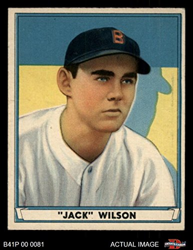 Jack Wilson Baseball - 1941 Play Ball # 29 Jack Wilson Boston Red Sox (Baseball Card) Dean's Cards 5 - EX Red Sox