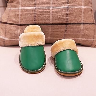 YMFIE Chaussons en coton d'hiver ménage sol intérieur thermique d'antidérapage chaussures pantoufles