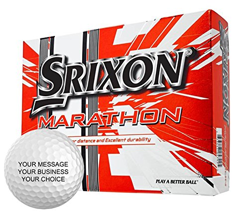 Srixon Marathon Personalized Golf Balls - Add Your Own Text (12 x 15 Ball Boxes)