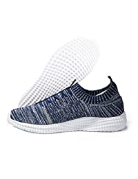 Belilent Men's Shadow Knit Fashion Sneaker Lightweight Running Shoes Walking Breathable Athletic Casual Shoes