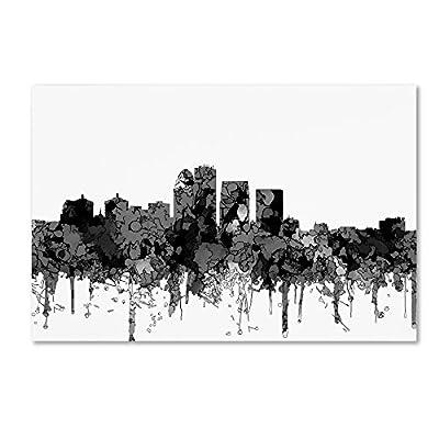 Louisville Kentucky Skyline BW by Marlene Watson, 12x19-Inch