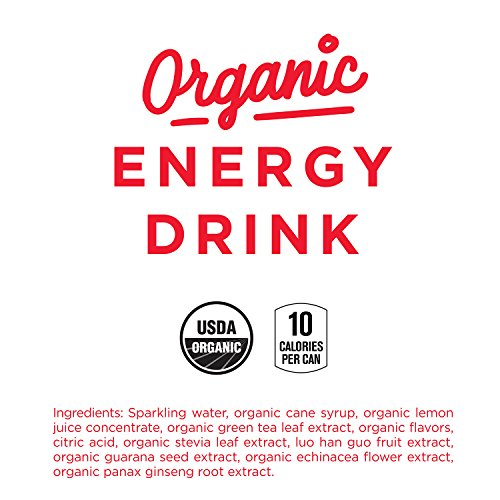 GURU Lite Natural Energy Drink, Low-Calorie Organic Energy, Sweetened with Stevia, 8.4-Ounce (Pack of 24)