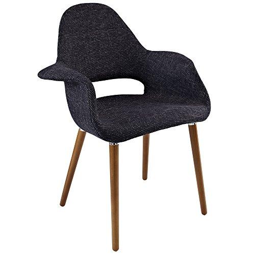 Price comparison product image Black Eames Saarinen Organic Accent Armchair FMP251644