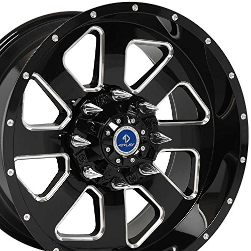 ford 8 lug black rims - 3