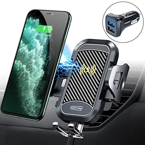 TORRAS [Upgraded] Wireless Car Charger Mount with