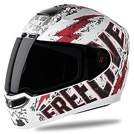 Steelbird SBA-1 Free Live Matt White with Red with Smoke visor,600mm