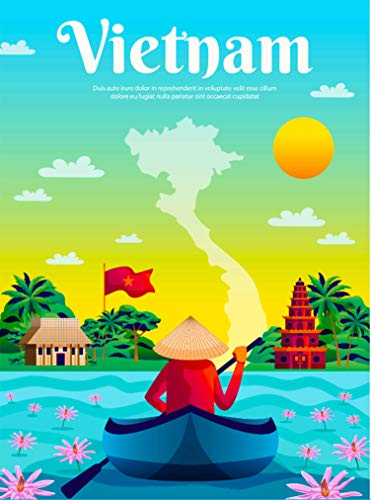 (A SLICE IN TIME Vietnam Asia Asian Retro Travel Home Collectible Wall Decor Advertisement Art Deco Poster Print. 10 x 13.5)