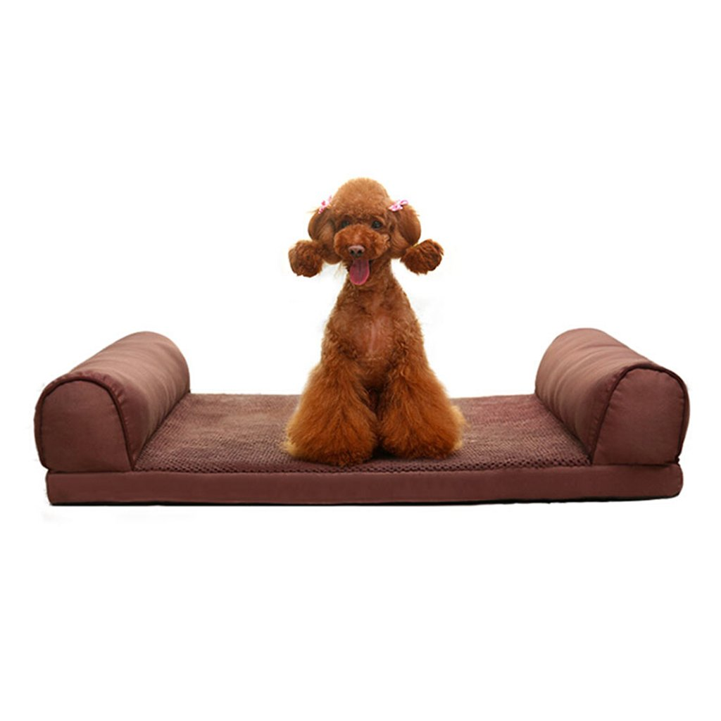 Dog bed Cane casa gatto rimovibile e lavabile casa del cane quattro stagioni grande pet forniture nido domestico (colore   Marronee, dimensioni   120  89  20cm)