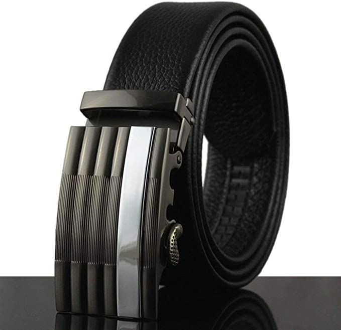 Formal Wear Zinc Men Casual Leather Belt Black 35mm VB-05