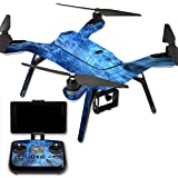 MightySkins Protective Vinyl Skin Decal for 3DR Solo Drone Quadcopter wrap cover sticker skins Blue Mystic Flames