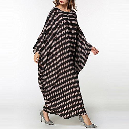 Zhuhaitf Surdimensionné De Style Des Femmes Des Musulmans Baggy Coton Robe Longue Caftans Manches Robe Spéciale Pour Les Dames Élégantes